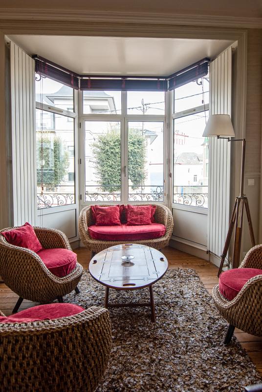 Salon de l'hôtel La Villefromoy